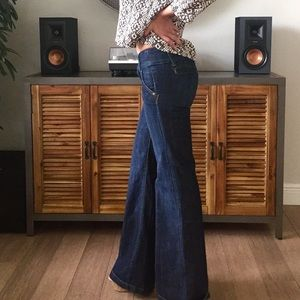 Dark Wash Wide Leg Bell Bottom Jeans